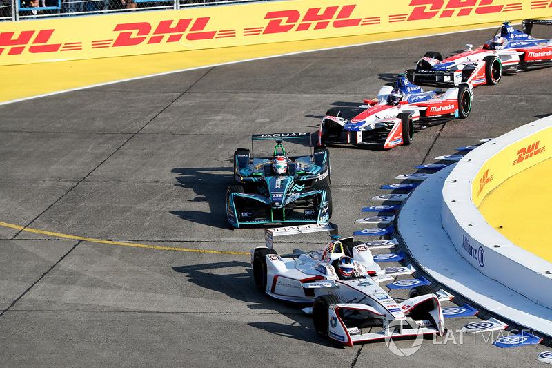 Jose Maria Lopez, Dragon Racing, Nelson Piquet Jr., Jaguar Racing, Nick Heidfeld, Mahindra Racing, Felix Rosenqvist, Mahindra Racing