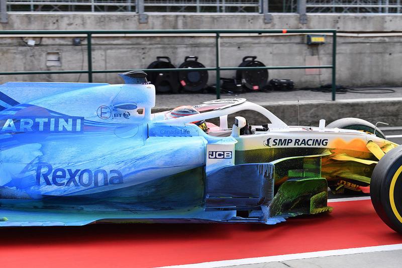 Robert Kubica, Williams FW41, con parafina en todo el coche