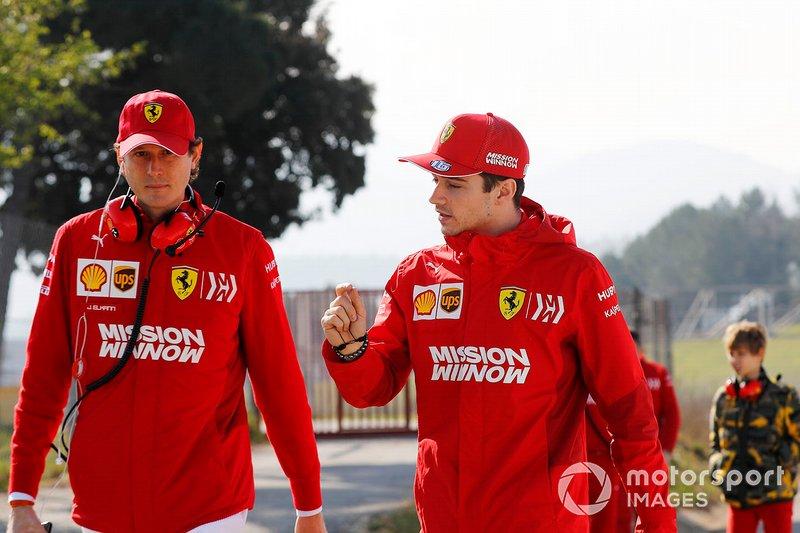 John Elkann, FIAT y Charles Leclerc, Ferrari