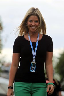 Isabell Reis, girlfriend to Timo Glock, Marussia Racing.