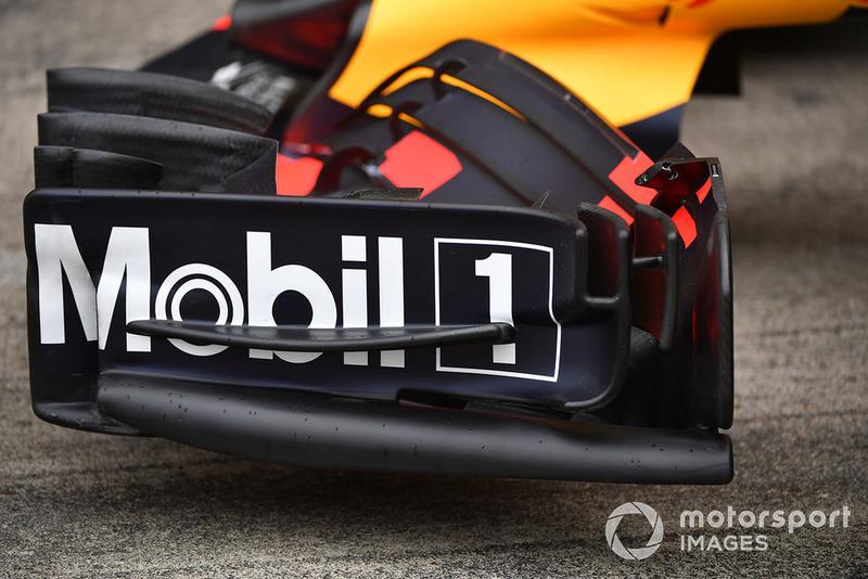 Alerón delantero en Red Bull Racing RB14