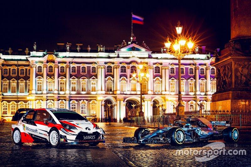 Toyota Yaris WRC et Mercedes-AMG F1 W09