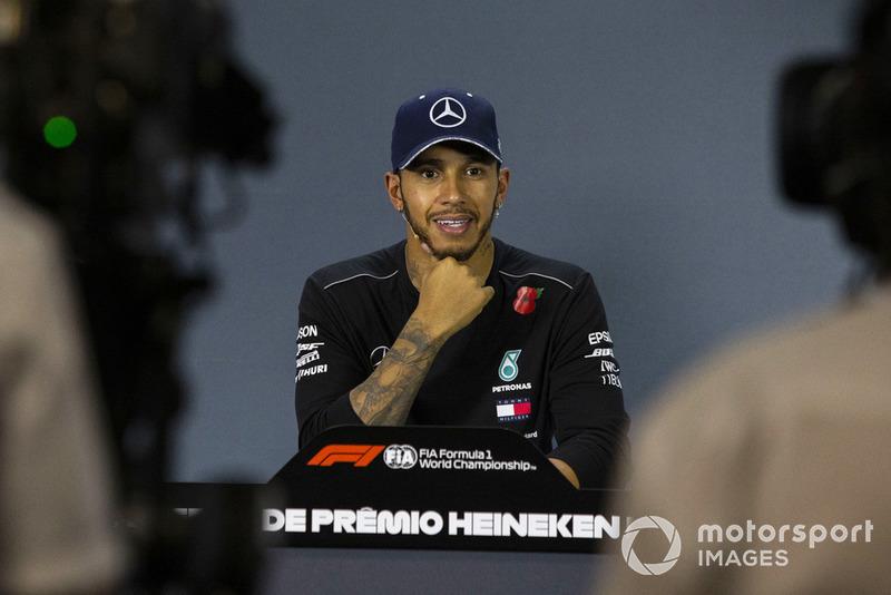 Lewis Hamilton, Mercedes AMG F1 en conférence de presse