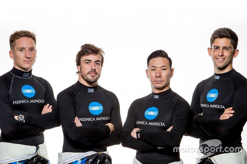 Renger van der Zande, Fernando Alonso, Kamui Kobayashi, Jordan Taylor