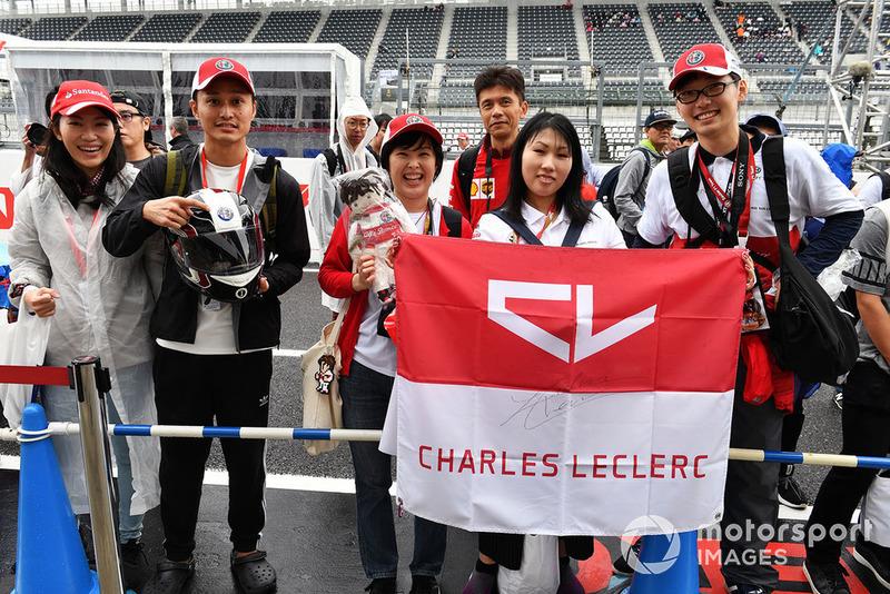Fans Charles Leclerc, Sauber