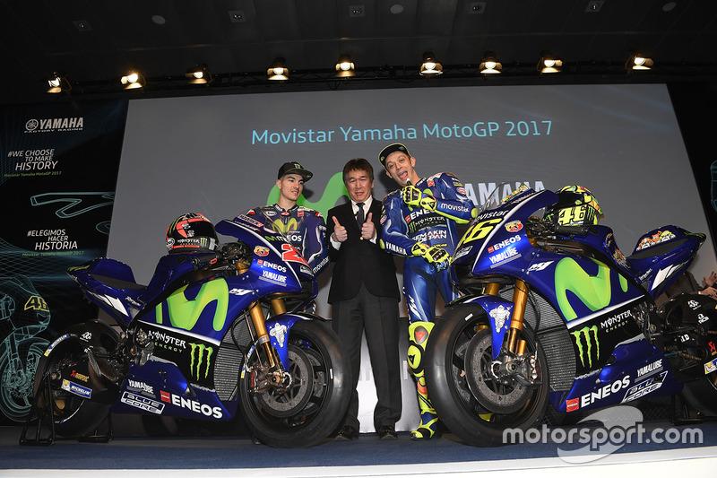 Валентино Россі, Маверік Віньялес, Yamaha Factory Racing, Коудзі Цуя, президент Yamaha Factory Racing