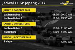 Jadwal F1 GP Jepang 2017
