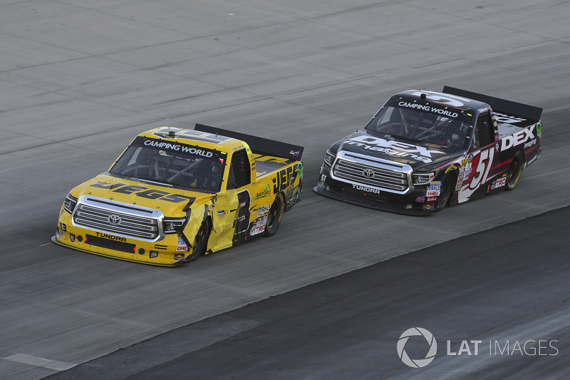 Cody Coughlin, ThorSport Racing, Toyota; Harrison Burton, Kyle Busch Motorsports, Toyota