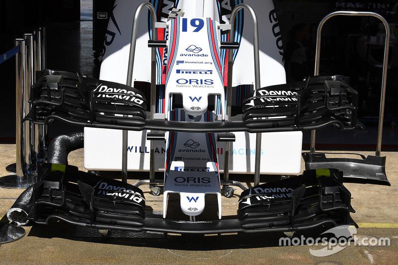 Носовой обтекатель и переднее антикрыло Williams FW40