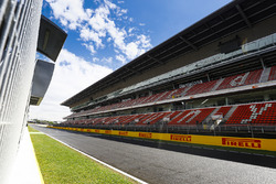 The main straight and grandstand
