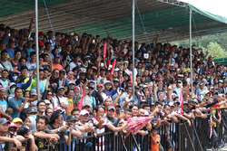 Suasana tribun penonton di Pangkal Pinang