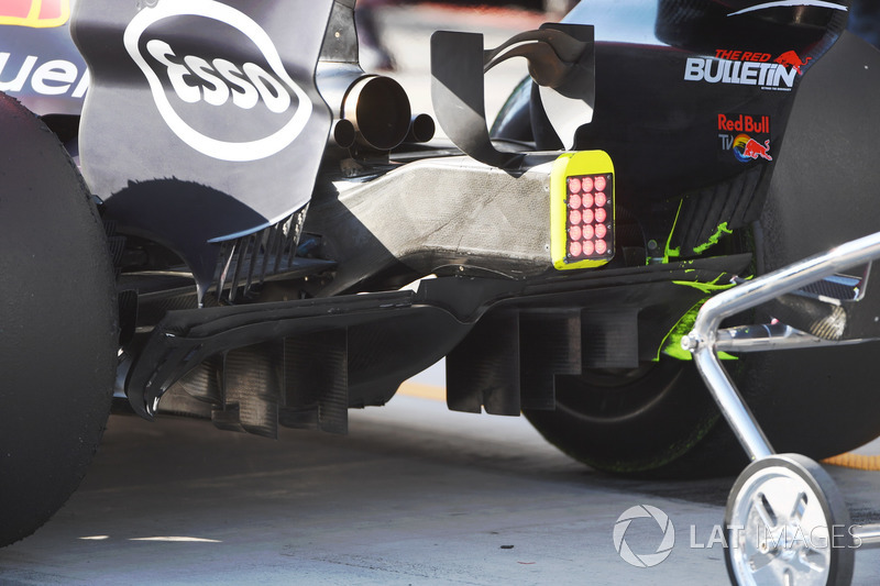 Le diffuseur de la Red Bull Racing RB13