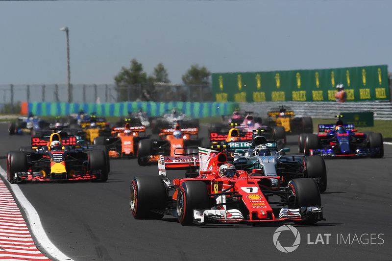 Kimi Raikkonen, Ferrari SF70-H al inicio