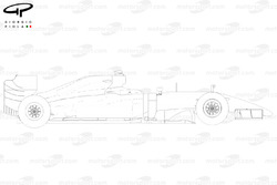 Lotus E22 side view