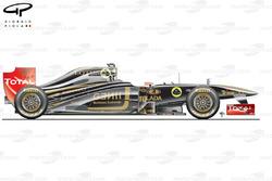 Lotus Renault R31 side view, Japanese GP