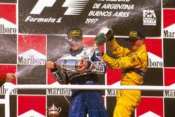 1. Jacques Villeneuve, Williams; 3. Ralf Schumacher, Jordan