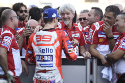 Third place Jorge Lorenzo, Ducati Team, Gigi Dall'Igna, Ducati Team General Manager
