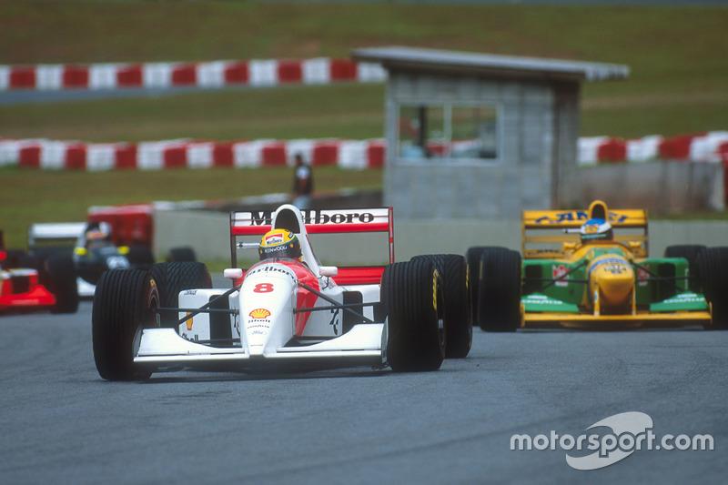 Ganador del GP de Brasil 1993: Ayrton Senna, McLaren MP4/8 Ford