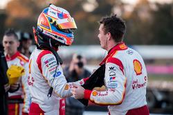 Race winner Shane van Gisbergen, Triple Eight Race Engineering Holden, third place Fabian Coulthard, Team Penske Ford