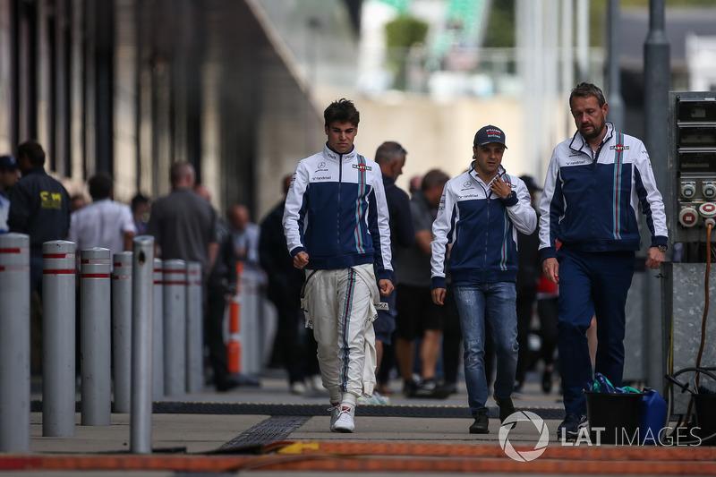 Lance Stroll, Williams y Felipe Massa, Williams