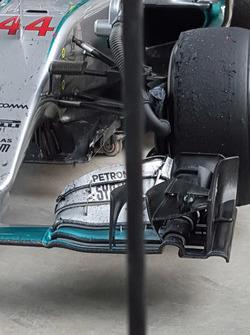 Mercedes AMG F1 Team W07, Frontpartie-Detail