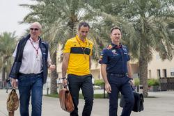 Dr Helmut Marko, Red Bull Motorsporları Danışmanı, Cyril Abiteboul, Renault Sport F1 Direktörü, Christian Horner, Red Bull Racing Takım Patronu