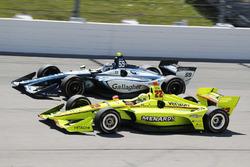 Simon Pagenaud, Team Penske Chevrolet, Max Chilton, Carlin Chevrolet