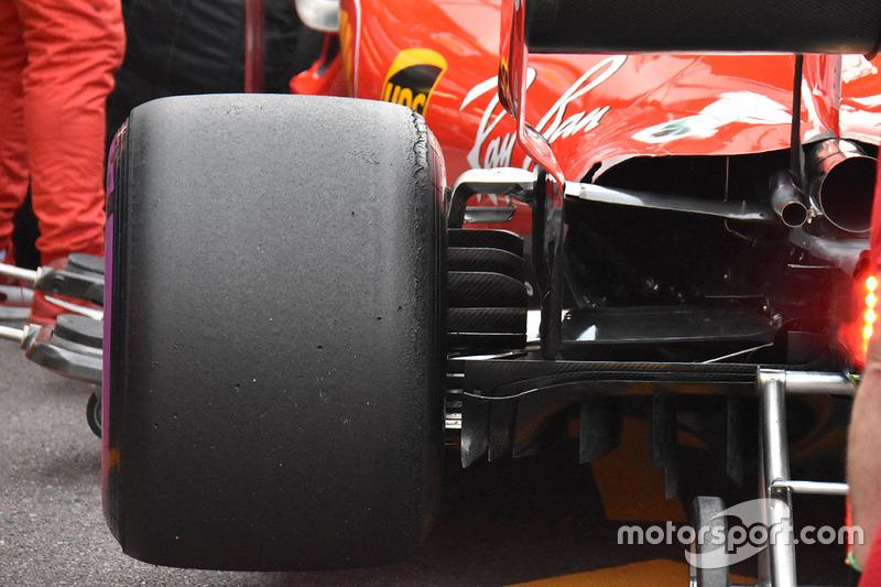 Detalle trasero de Ferrari SF71H