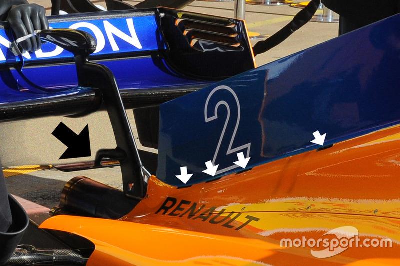 Капот двигателя McLaren MCL33