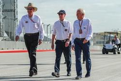 Charlie Whiting, FIA Delegate walks the track