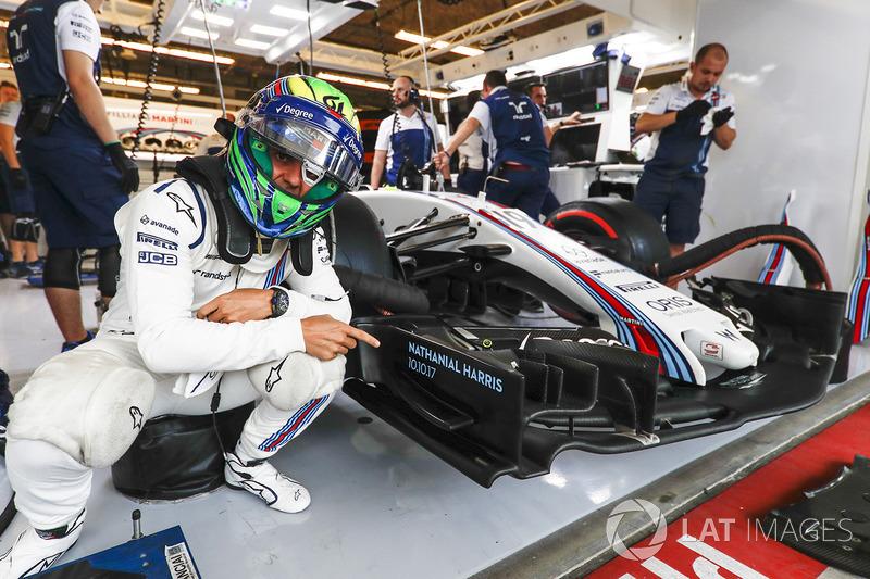 Felipe Massa, Williams, señala el nombre Nathaniel Harris el hijo recién nacido de Claire Williams, Subdirectora del equipo, Williams