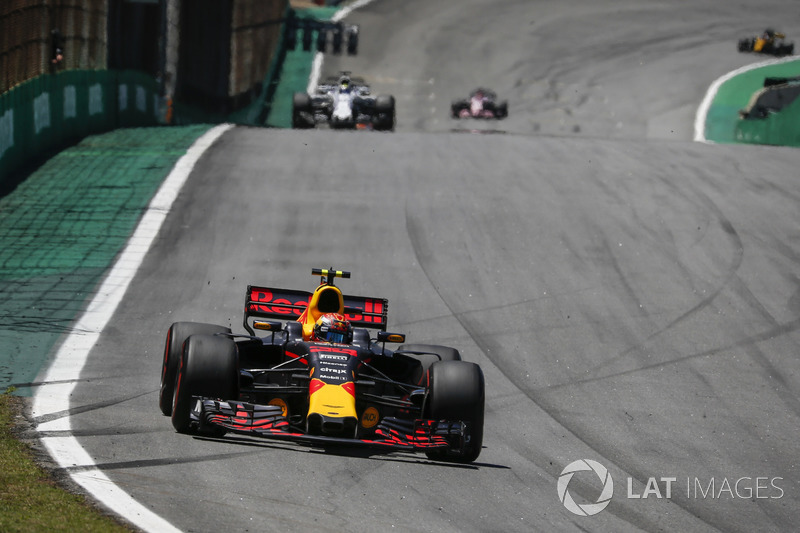 Verstappen is asked about track conditions after opening lap incidents