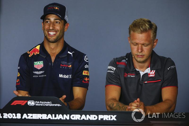 Daniel Ricciardo, Red Bull Racing, Kevin Magnussen, Haas F1 Team