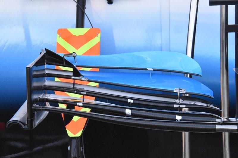 Detalle del alerón delantero Williams FW42