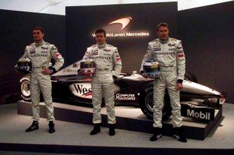 David Coulthard, Olivier Panis e Mika Hakkinen