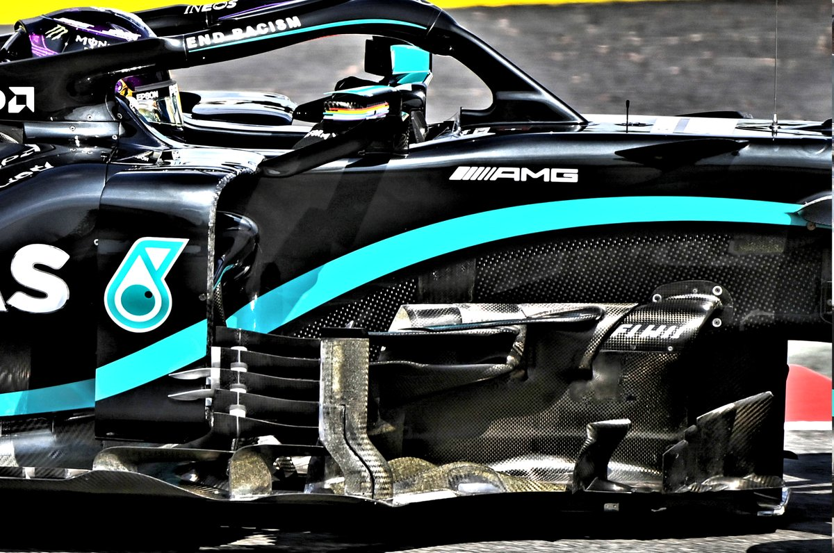 Mercedes F1 W11 bargeboard detail