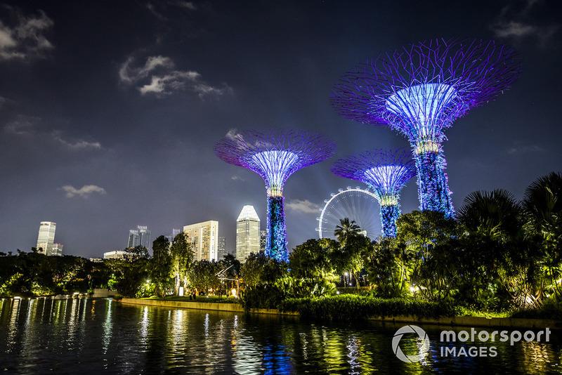 Les jardins de Singapour illuminés