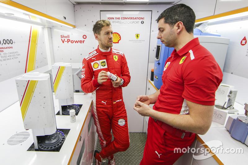Sebastian Vettel, Ferrari en Shell Track Lab