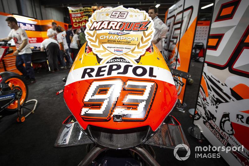 Dettaglio della moto di Marc Marquez, Repsol Honda Team