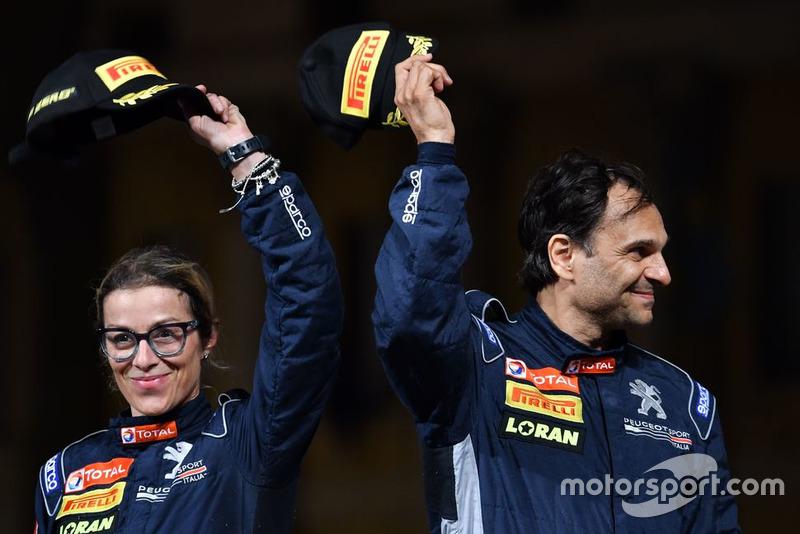 I Campioni 2018 Anna Andreussi e Paolo Andreucci, Peugeot Sport Italia