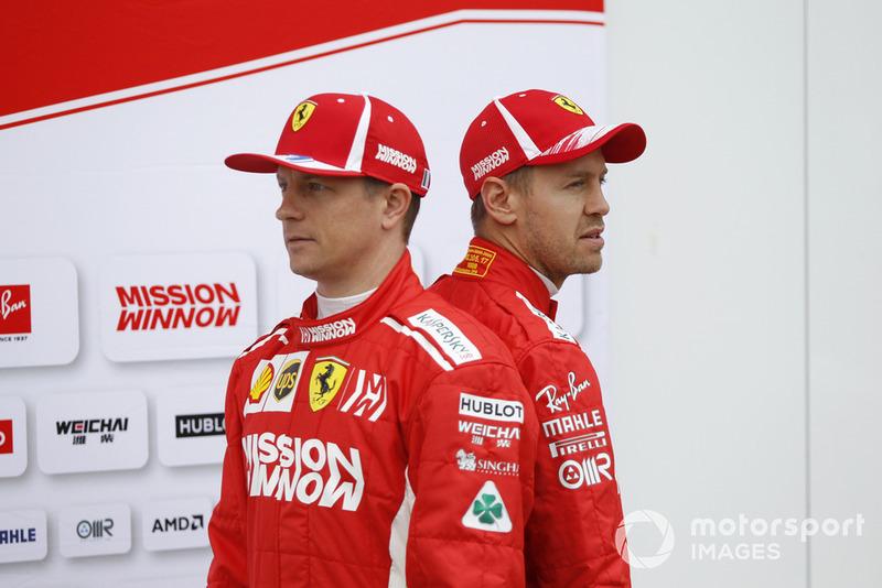 Kimi Raikkonen, Ferrari et Sebastian Vettel, Ferrari