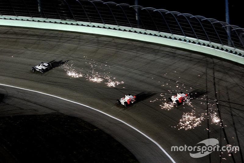 IndyCar, Homestead 2008: Marco Andretti, Helio Castroneves und Ryan Briscoe