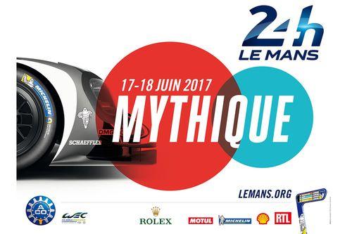 Poster voor de 24 uur van Le Mans 2017