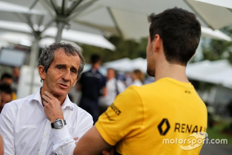 Alain Prost, Renault Sport F1 Team con Jolyon Palmer, Renault Sport F1 Team