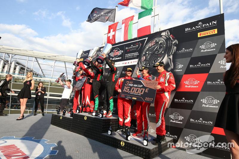 Pro Am Cup: Winner #97 Oman Racing Team with TF Sport, Aston Martin V12 GT3: Ahmad Al Harthy, Jonny Adam  , second place #888 Kessel Racing, Ferrari 488 GT3: Jacques Duyvier, Zanuttini, David Perell, third place #53 Spirit Of Race, Ferrari 488 GT3: Niek Hommerson, Louis Machiels, Andrea Bertolini(BEL) ANDREA BERTOLINI (ITA) THIRD IN PRO AM CUP
