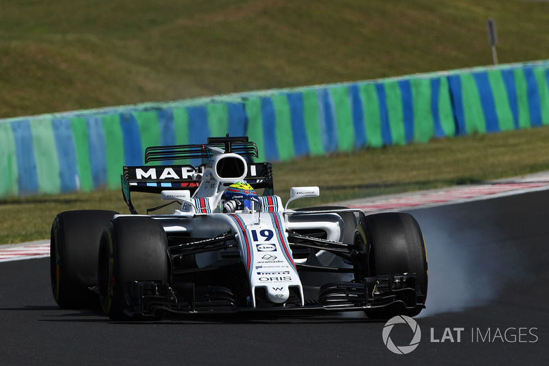Феліпе Масса, Williams FW40, перегальмував