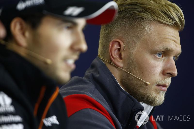 Серхіо Перес, Force India, Кевін Магнуссен, Haas F1