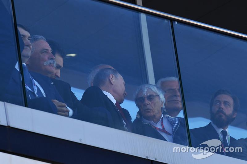 Vladimir Putin, President of Russia, Bernie Ecclestone