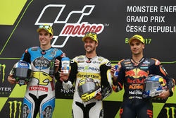 Podium: race winner Thomas Luthi, CarXpert Interwetten, second place Alex Marquez, Marc VDS, third place Miguel Oliveira, Red Bull KTM Ajo