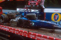 Luciano Burti, Prost AP04 chasis después de su accidente